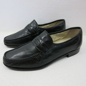 Brassboot Strap Leather Dress Loafers Shoes 9 M